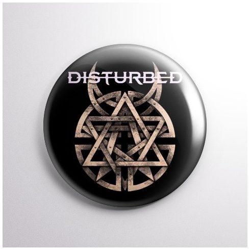 Disturbed - Logo kitűző