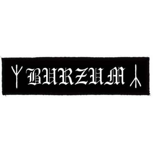 Burzum - Logo Superstrip felvarró