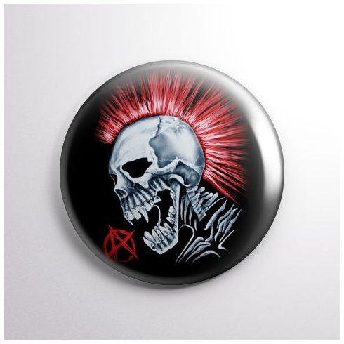 Punks Not Dead - Skull kitűző