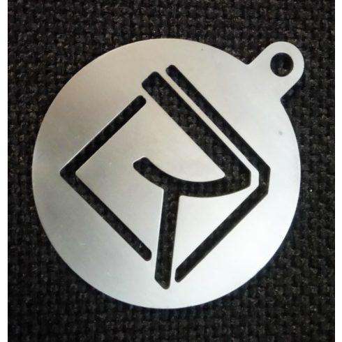 Road - Logo fém kulcstartó