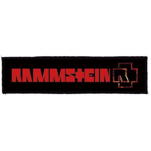 Rammstein - Logo Superstrip felvarró