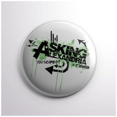 Asking Alexandria - Logo kitűző