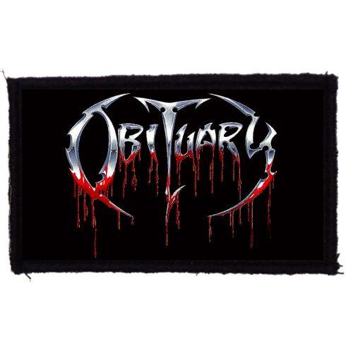 Obituary - Logo felvarró
