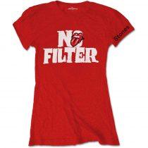 The Rolling Stones - No Filter Header Logo női póló