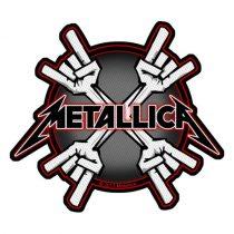 Metallica - Metal Horns (szőtt) felvarró