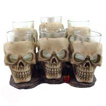 Six Shooter Skulls pohár szett