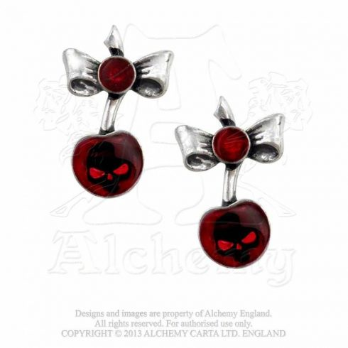 Alchemy Black Cherry fülbevaló